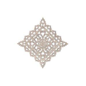 geometric white wood wall dcor