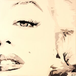 She Knows Marilyn Monroe by Pop Art Queen Graphic Art on Wrapped Canvas by Zipcode Design