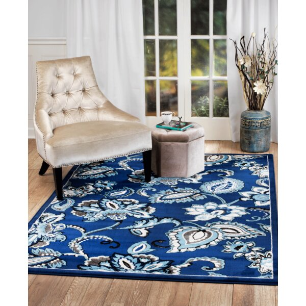Blue Area Rug by Charlton Home