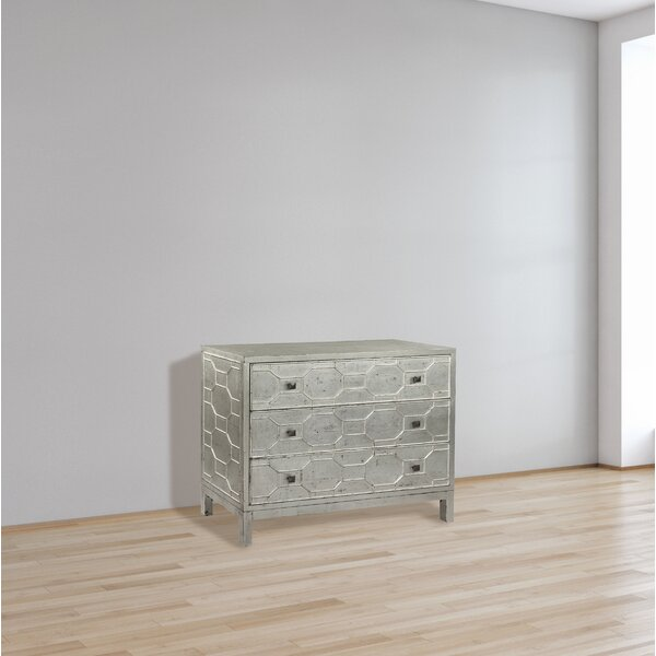 Dell Lattice Faced 3 Drawer Accent Chest by Bloomsbury Market