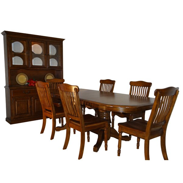 Neely Self Storage Leaves 9 Piece Extendable Solid Wood Dining Set by Canora Grey