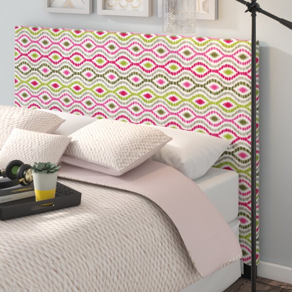 Handy Optical Delights Upholstered Panel Headboard by Wrought Studio