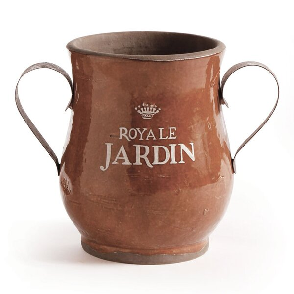 Adel Ceramic Urn With Metal Handles by One Allium Way