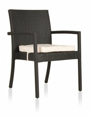 Jevon Patio Dining Chair with Cushion by Ebern Designs