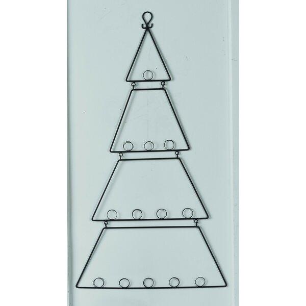 The Holiday Aisle Wall Hanging Metal Tree Card Holder Reviews Wayfair