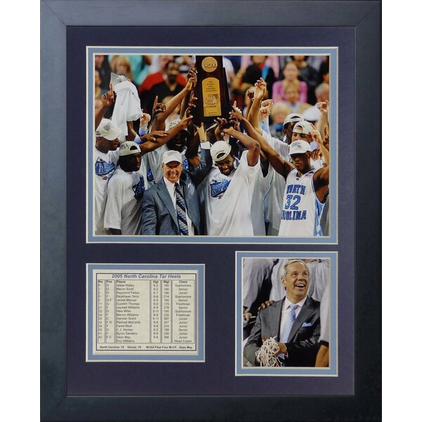 2005 North Carolina Tar Heels Champions Framed Memorabilia by Legends Never Die