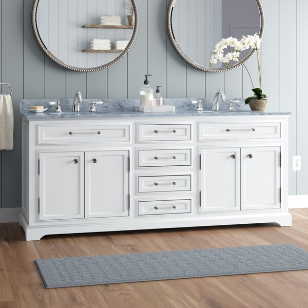 Bergin 72 Double Bathroom Vanity Set by Three Posts