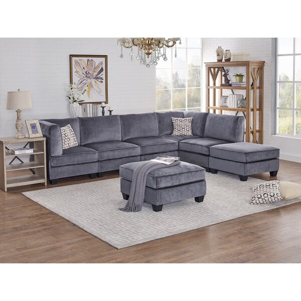 Beautiful Classy Marcie Modular Sectional with Ottoman by Ivy Bronx by Ivy Bronx