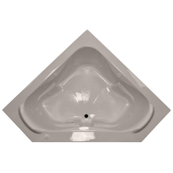 60 x 60 Corner Whirlpool Tub with Raised Headrest by American Acrylic