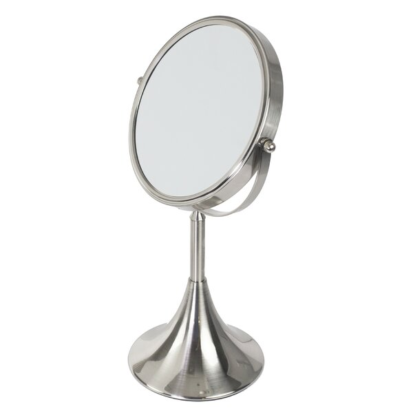 Shelled Base Cosmetic Mirror by Home Basics