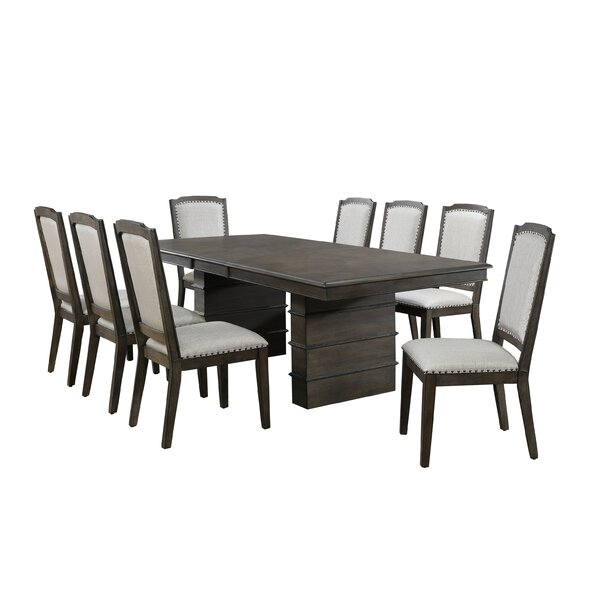 Seaver 9 Piece Extendable Dining Set by Gracie Oaks