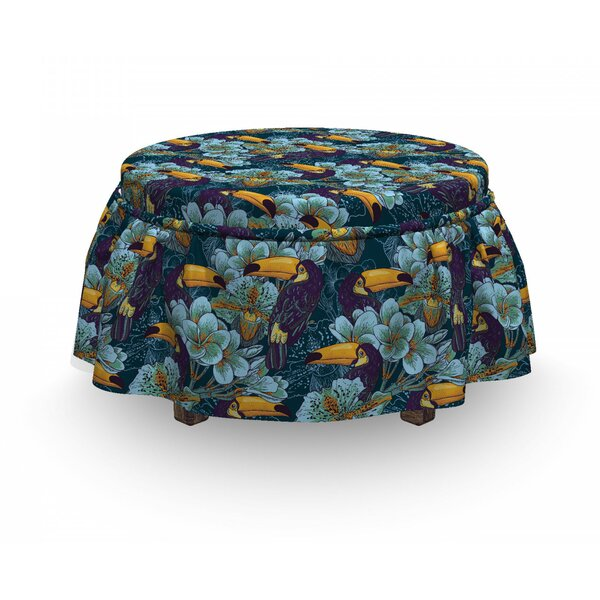 Keel-Billed Toucan Bird Ottoman Slipcover (Set Of 2) By East Urban Home