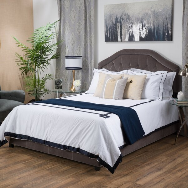 Haverford Upholstered Panel Bed by Alcott Hill