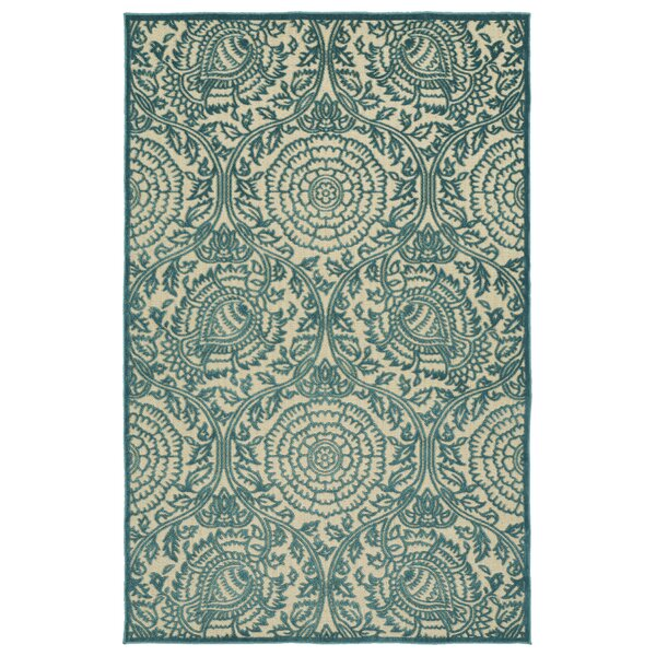 Covedale Machine Woven Blue Indoor/Outdoor Area Rug by Charlton Home