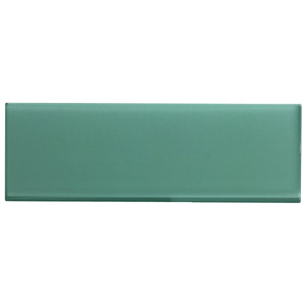 Premium Series Individual 4 x 12 Glass Subway Tile in Glossy Light Teal by WS Tiles