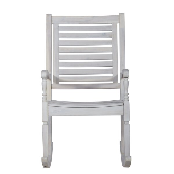 Jarrard Solid Acacia Wood Patio Rocking Chair by Three Posts