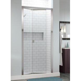 Infinity Bifold 37 x 67 Folding Semi-Frameless Shower Door ByBasco
