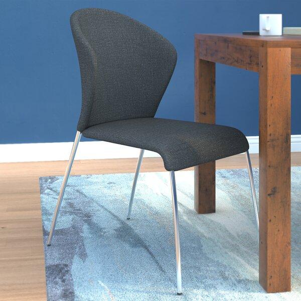 Mooneyhan Upholsetered  Side Chair in Silver (Set of 4) by Brayden Studio Brayden Studio