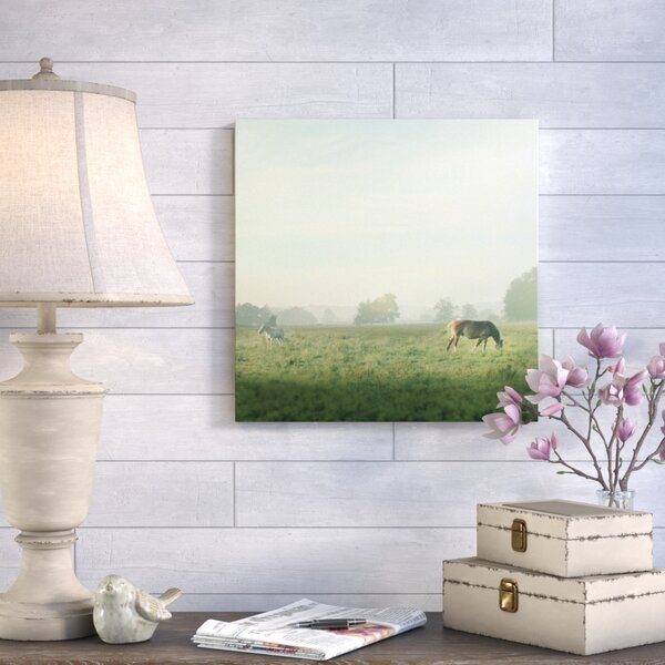 Farm Morning I Square Painting Print on Wrapped Canvas by August Grove
