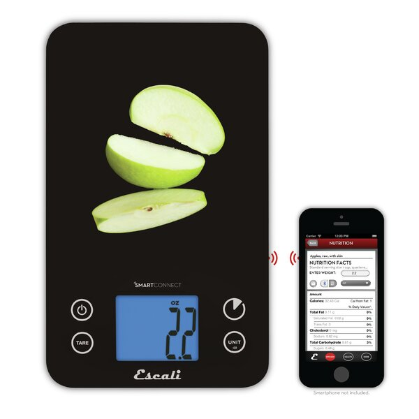 SmartConnect 11 lbs Bluetooth Kitchen Scale by Escali