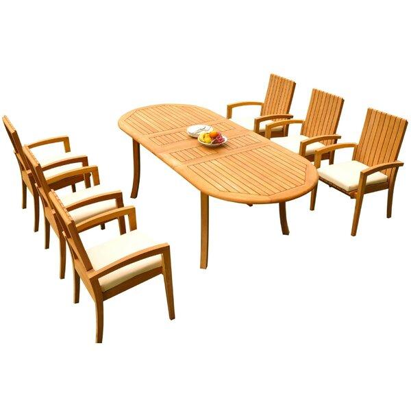 Weir 7 Piece Teak Dining Set Bayou Breeze W001959734