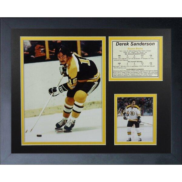 Derek Sanderson - Boston Bruins Framed Memorabilia by Legends Never Die