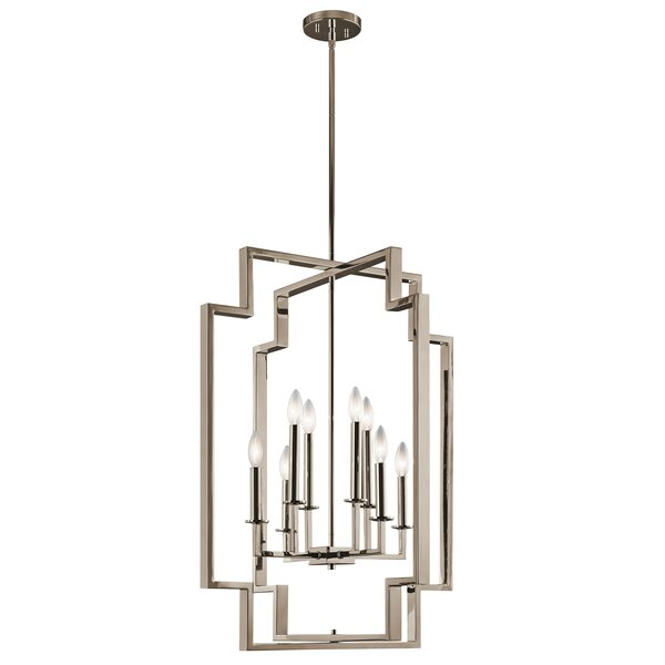 Goffe 8 - Light Candle Style Geometric LED Chandelier By Mercer41