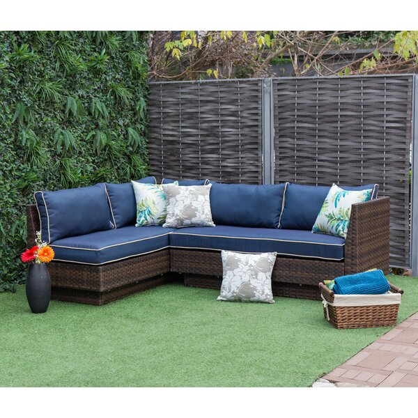 Addora Outdoor 2 Piece Rattan Seating Group with Cushions by Brayden Studio