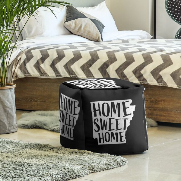 Home Sweet Arkansas Cube Ottoman by East Urban Home East Urban Home