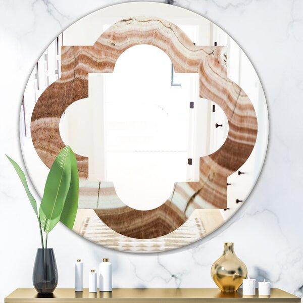 Crystals Minerals and Stones Quatrefoil Rustic Frameless Wall Mirror