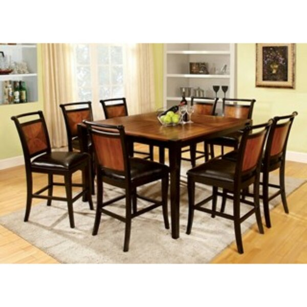 Woolum 9 Piece Counter Height Solid Wood Dining Set by Red Barrel Studio