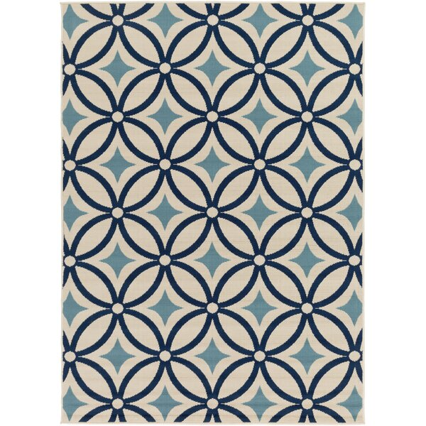 Cowell Navy/Denim Area Rug by Wade Logan