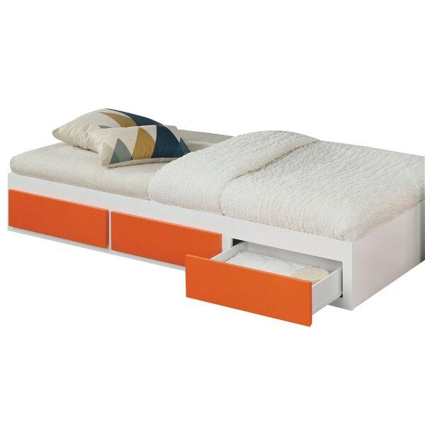 Egemen Wooden Twin Storage Platform Bed by Ebern Designs