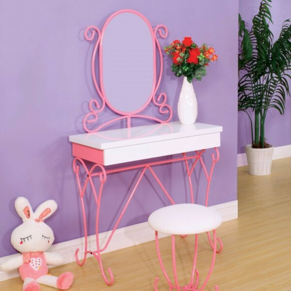 Dudelange Vanity Set with Mirror by Harriet Bee