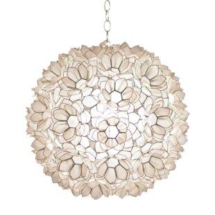 Lotus flower pendant light wayfair capiz shell lotus 1 light pendant aloadofball Images