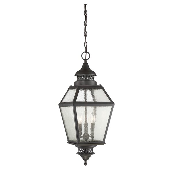 Harshbarger 3-Light Outdoor Hanging Lantern by Alcott Hill