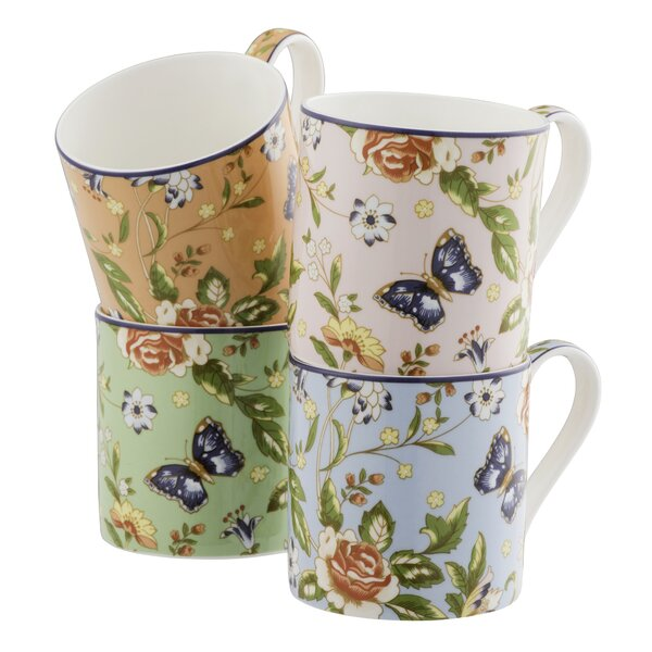 Cottage Garden Windsor Mug (Set of 4) by Belleek G