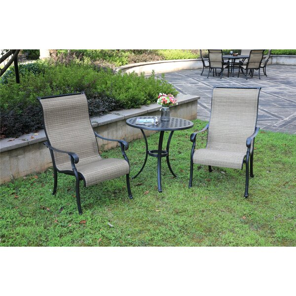 Apaui 3 Piece Bistro Set by Charlton Home