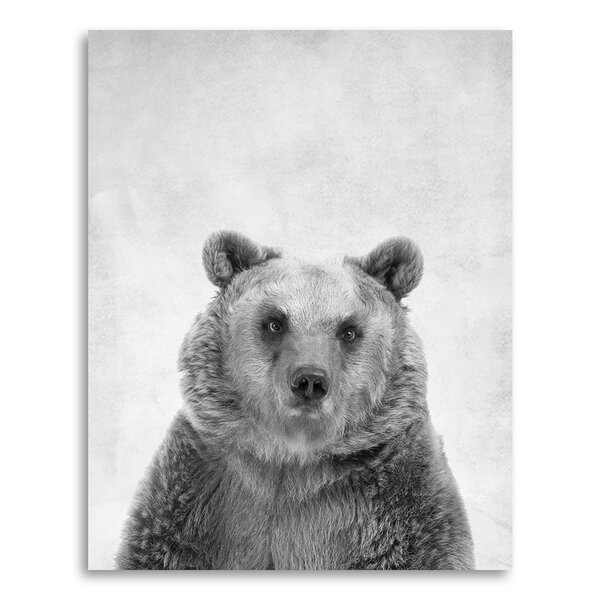 Animal Prints Bear in Portrait Format Paper Print by Coco and James