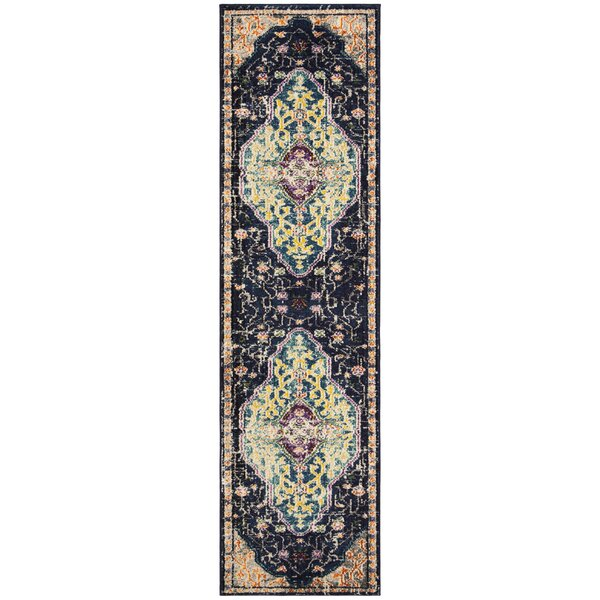Hammondale Black/Blue Area Rug by Bloomsbury Market