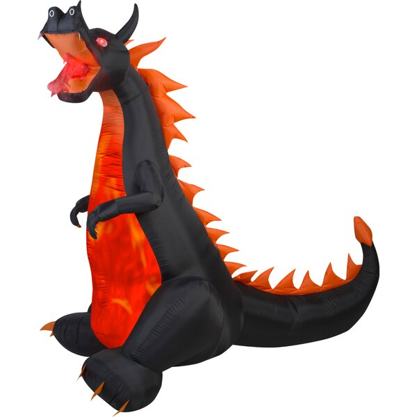 Airblown Projection Fire and Ice Dragon with Flaming Mouth Inflatable by The Holiday Aisle