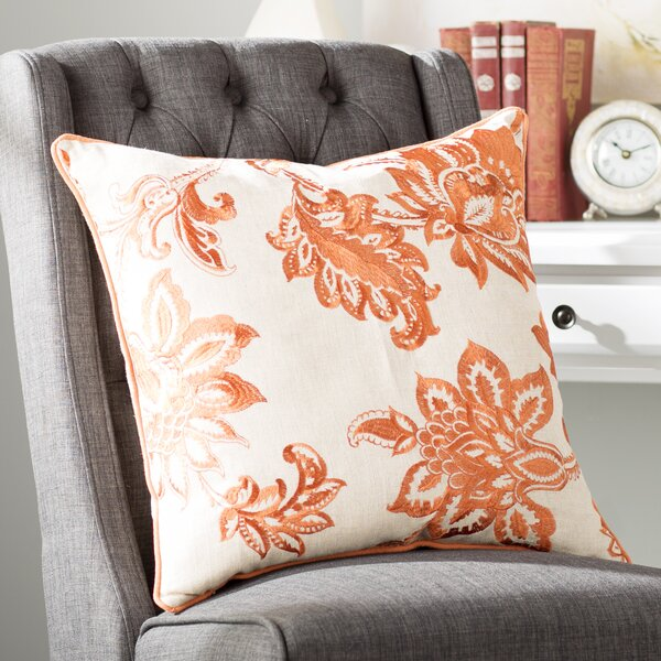 Flavien Embroidered French Country Throw Pillow by Lark Manor| @ $27.99