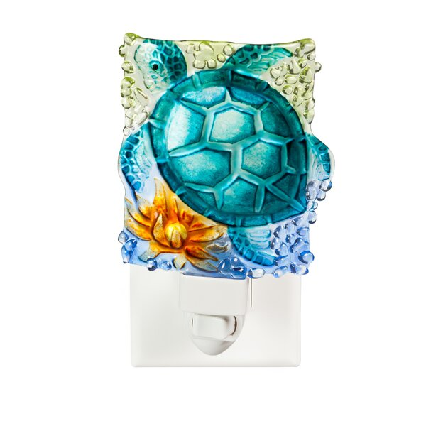 Turtle Crushed Glass Night Light by Cypress Home