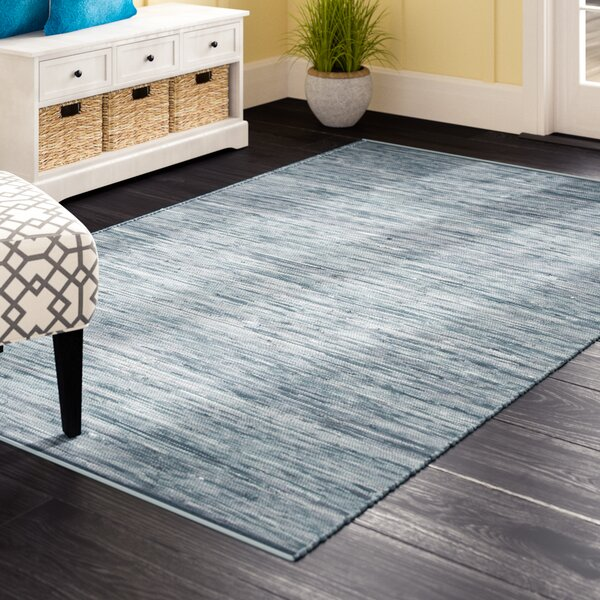 Keiu Hand-Woven Blue Area Rug by Highland Dunes
