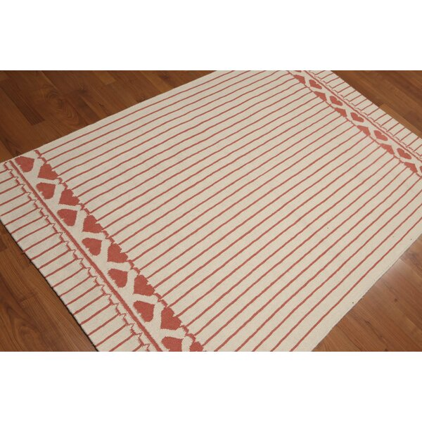 One-of-a-Kind Schumacher Reversible Hand-Knotted Wool Ivory Area Rug by Red Barrel Studio