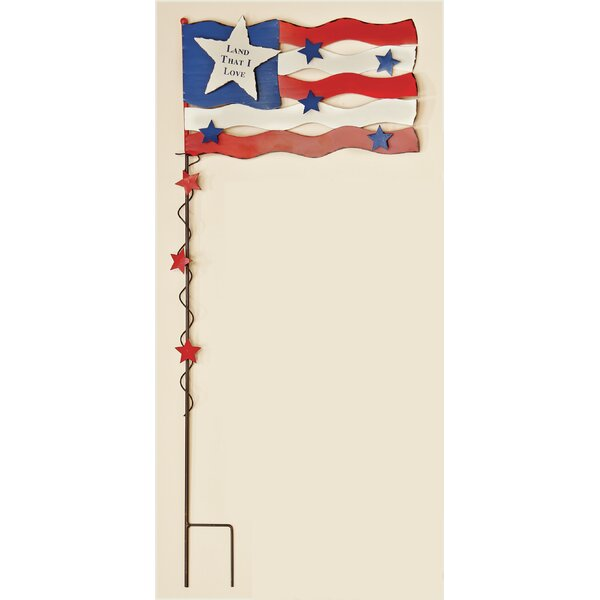 Americana Flag with Stars Garden Stake by Worth Imports