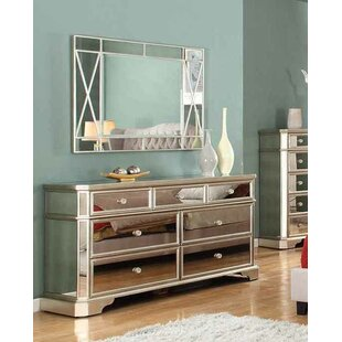 borghese mirrored furniture. Borghese 7 Drawer Dresser With Mirror Mirrored Furniture L