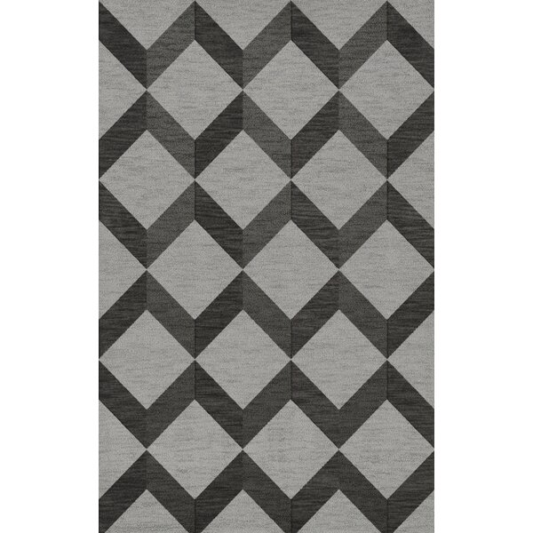 Bella Machine Woven Wool Gray/Black Area Rug by Dalyn Rug Co.