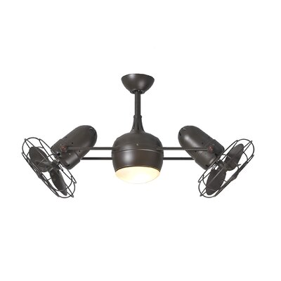 17 Stories 39 Valerian 6 Blade LED Ceiling Fan with Wall Remote