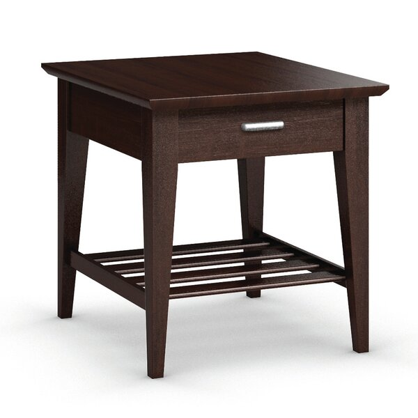 Currents Collection End Table With Drawer by Caravel